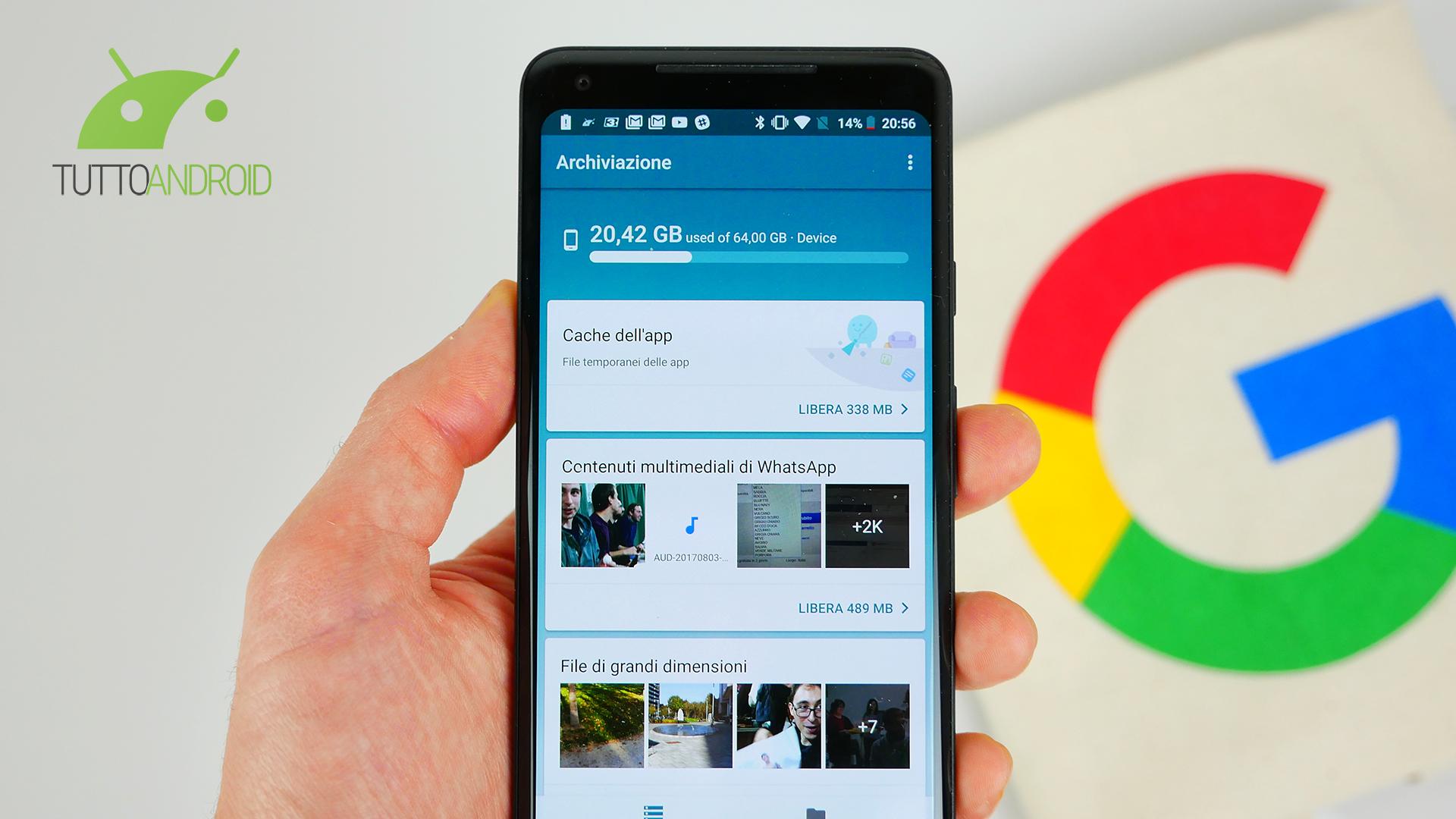 Files di Google si aggiorna con due attese e utili nuove fun