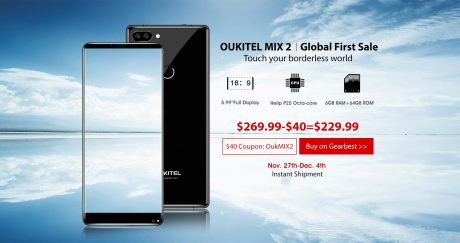 OUKITEL MIX 2 global first sale