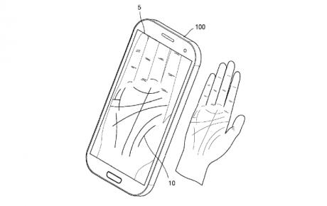 Samsung brevetto palmo mano