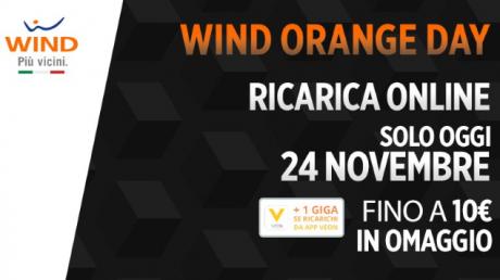 Wind offre il 10% di ricarica in più solo oggi per il Wind Orange Day