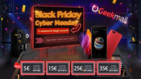 Con GeekMall.it più spendete e meno pagate per il Black Friday e Cyber Monday