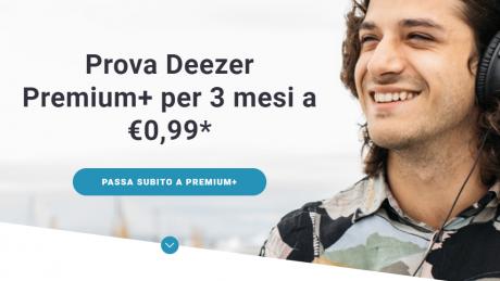 Deezer Premium+ in offerta a 0,99 Euro per 3 mesi