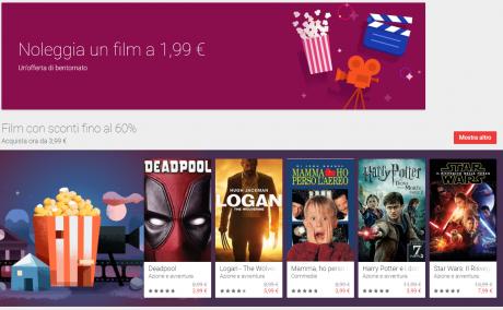 Google Play Store film natale