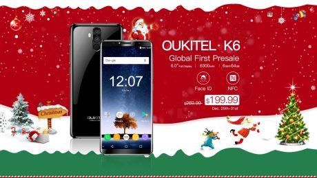 OUKITEL K6 global first presale starts
