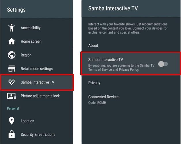 Samba Tv Sony