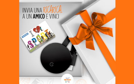Con Ricarica SMS di Wind in palio Gift Card Decathlon e Google Chromecast Ultra