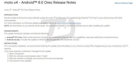 Moto x4 android 8.0 oreo