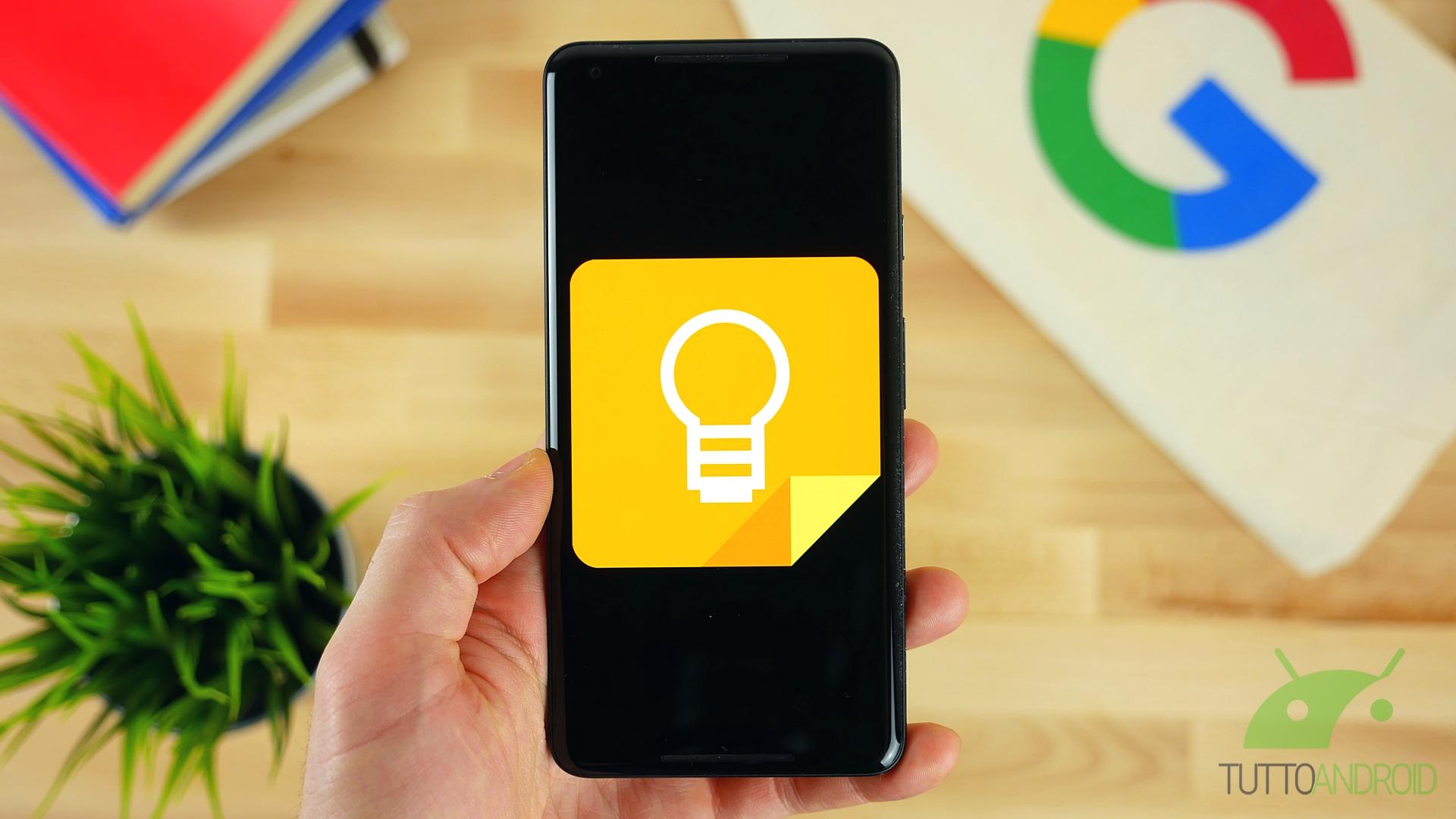 L'ultimo aggiornamento di Google Keep reintroduce il tasto FAB e modifica in meglio