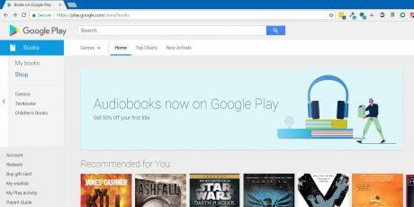 Google Play Store audiolibri