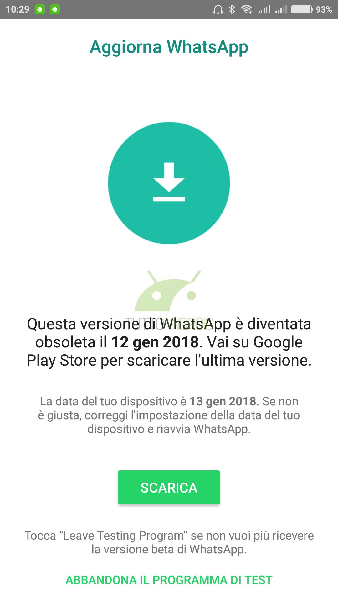 scaricare nuova versione whatsapp