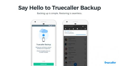 Truecaller backup