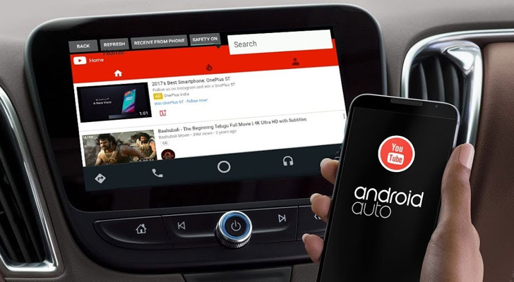 Con l'app YouTubeAuto si guardano i video su Android Auto