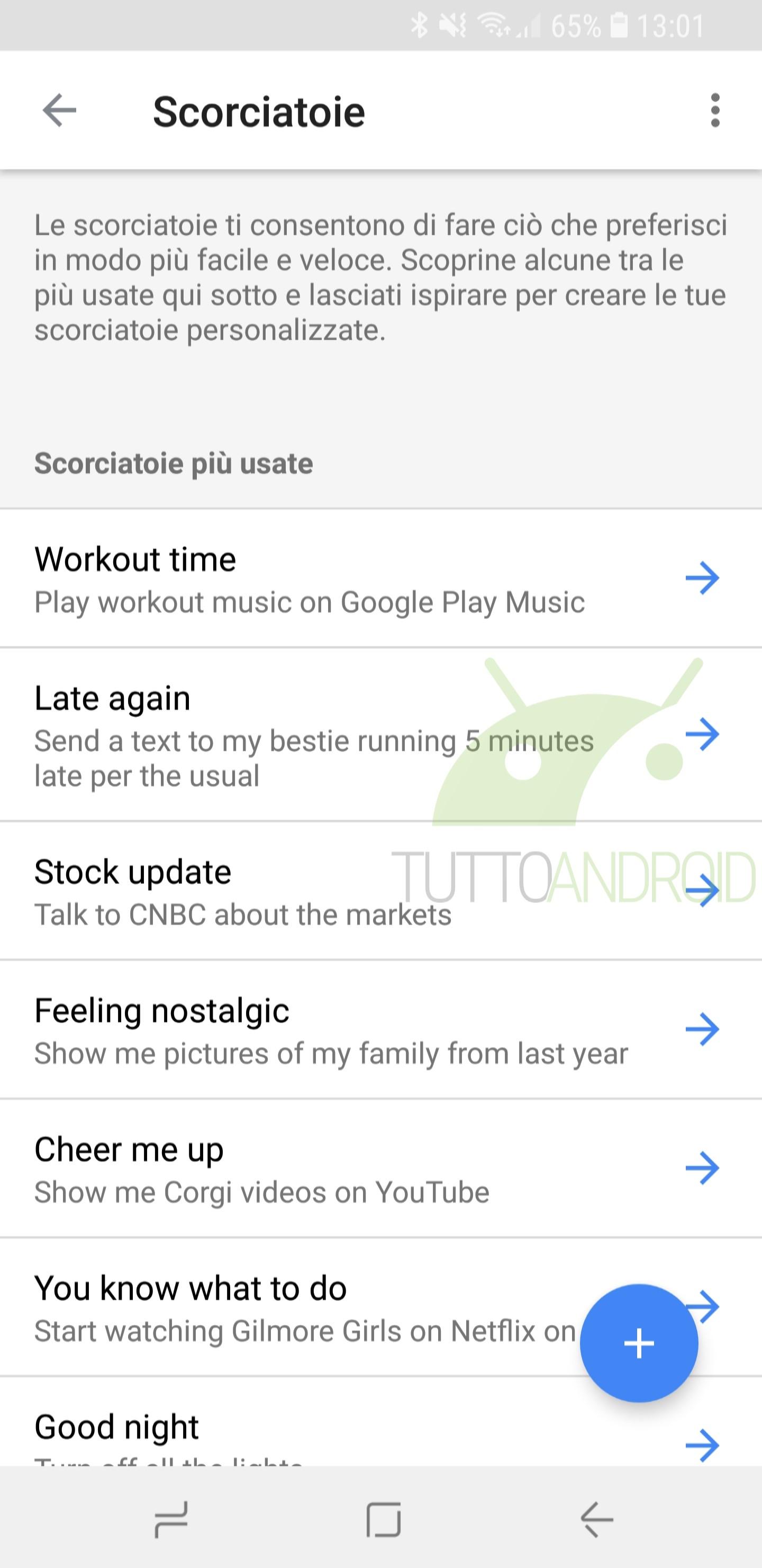 Google assistant aggiunge le scorciatoie in italiano ma sono un po 39 nascoste tuttoandroid for Google assistant italia