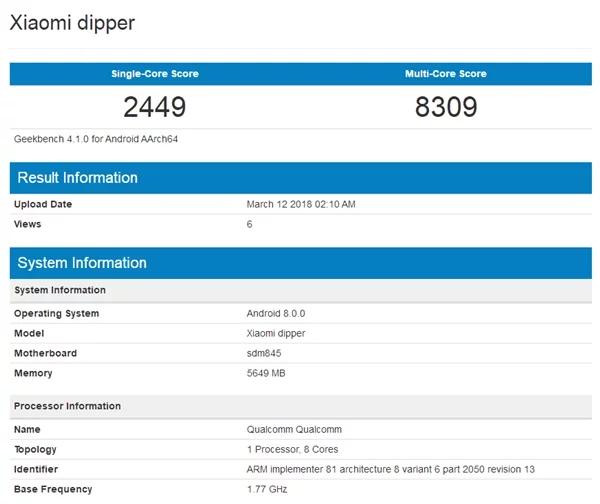 Xiaomi Mi 7 sarà dotato di 'notch', sensore infrarossi e Snapdragon 845