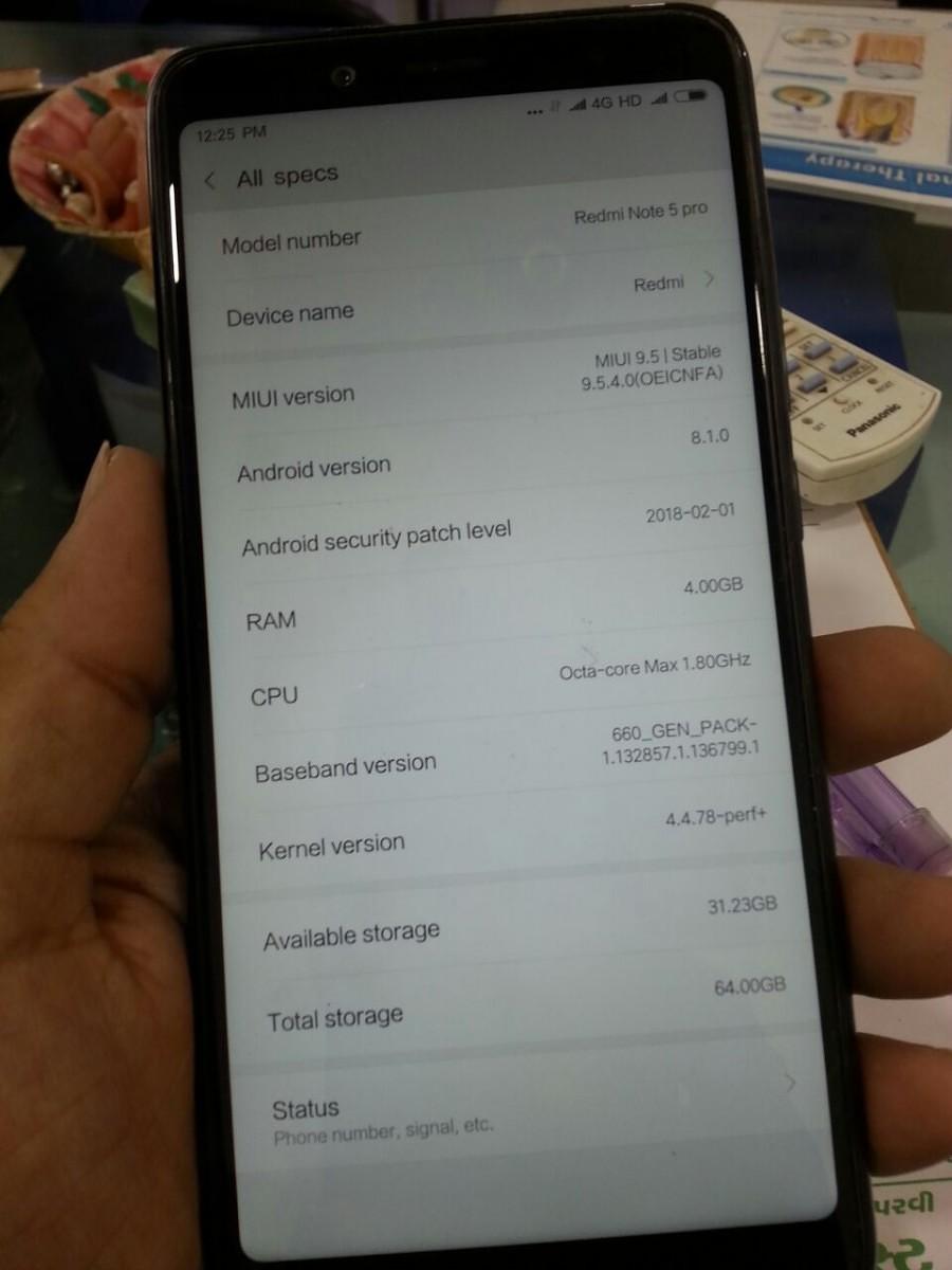 Xiaomi Redmi Note 5 Pro: Project Treble con Android 8 1 Oreo