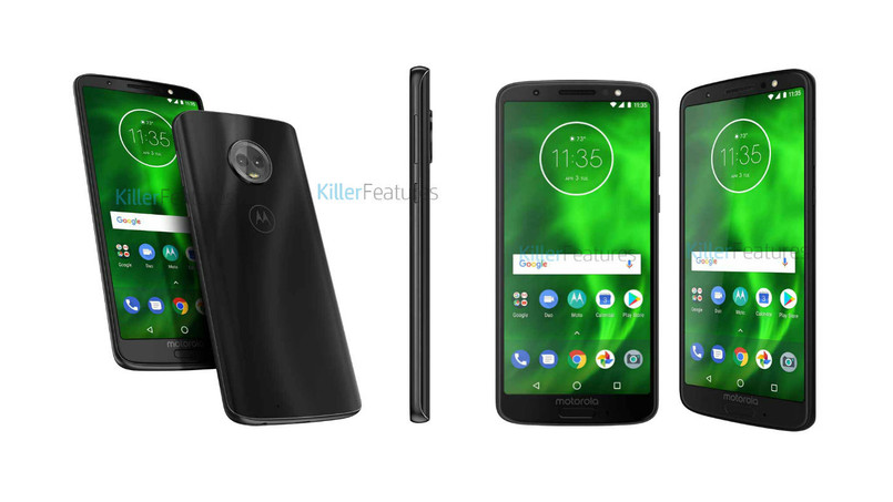 Moto G6 e Moto G6 Play: render e specifiche