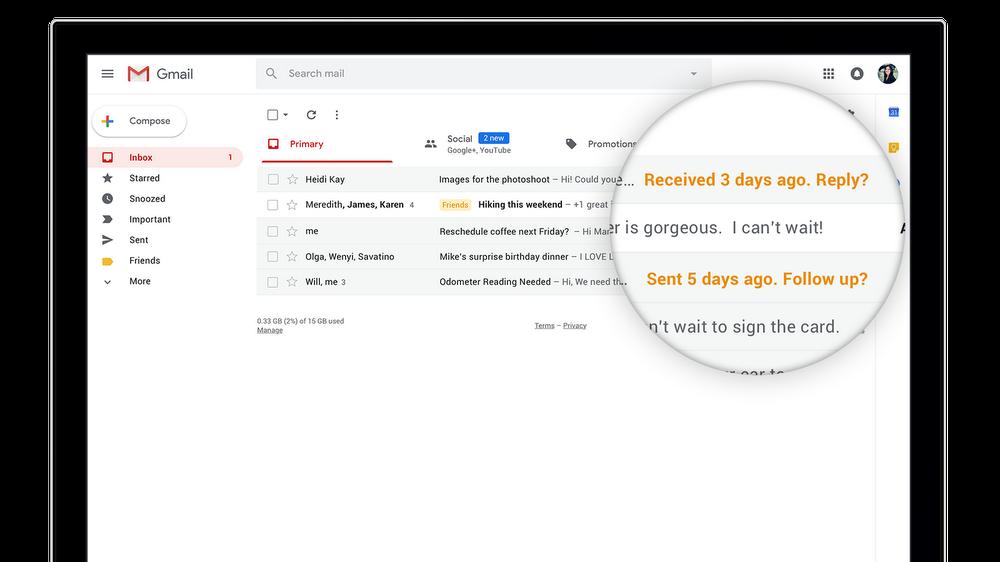 Gmail per Android si aggiorna con la nuova funzionalità Snooze