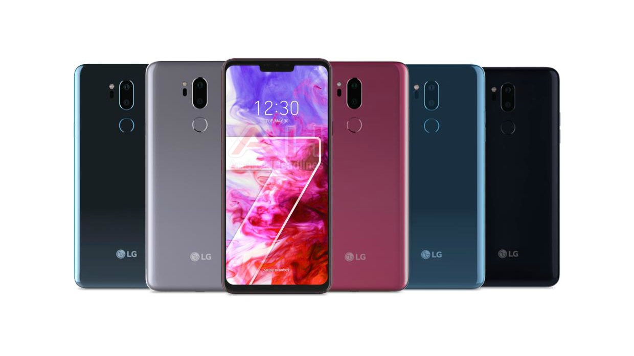 LG G7 ThinQ si mostra nei primi render, 5 colorazioni e notch