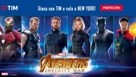 Con TIM e gli Avengers in palio un viaggio a New York e altr