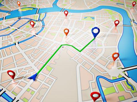 GPS street map ICISS tracking