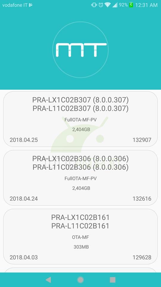Android 8 0 Oreo per Huawei P8 Lite 2017 è scaricabile con Firmware