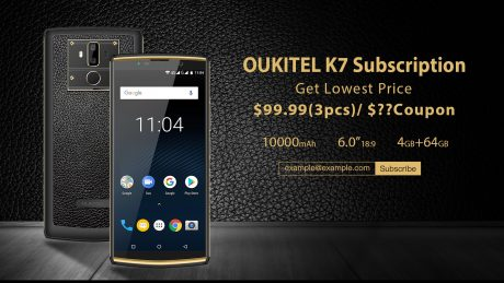 OUKITEL K7 subscription activity