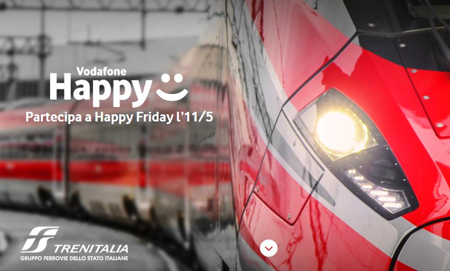Vodafone Happy Friday: 10 euro di sconto Trenitalia per questo venerdì