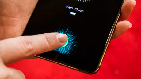 display sensore impronte