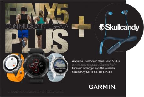 GARMIN fenix 5 plus Promo cuffie