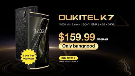 Fino al 25 giugno potete acquistare OUKITEL K7 a meno di 140