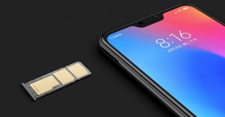 Redmi 6 Pro triple card slot