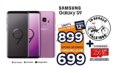 Samsung Galaxy S9 Unieuro offerta