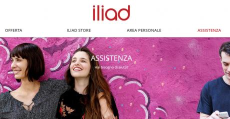 Iliad assistenza sezione