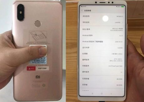 Xiaomi Mi Max 3 cop foto
