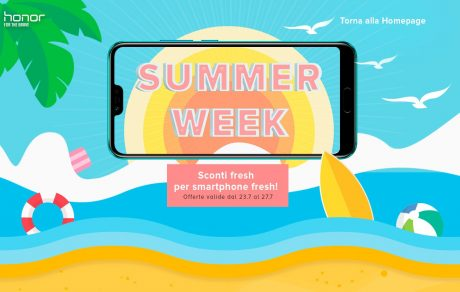 Honor lancia la Summer Week: smartphone scontati fino al 27