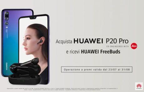 Huawei P20 Pro fino al 31 agosto regala gli auricolari Huawe