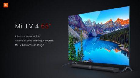 Xiaomi Mi TV 4, lo smart TV con lo schermo più sottile al mo