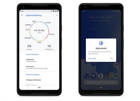 Le funzioni di Digital Wellbeing arrivano sull'app di Google