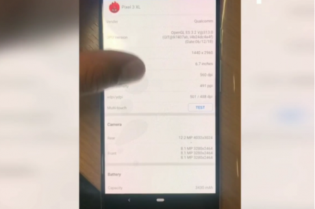 Google Pixel 3 XL video preview reveals giant 6.7 display 3430mAh battery.jpg