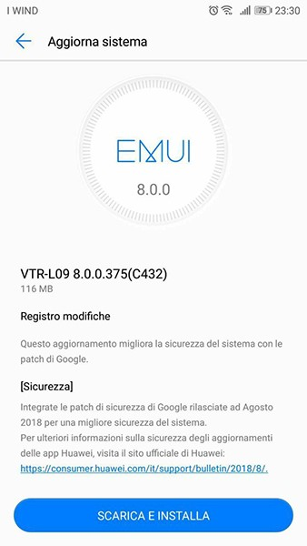 Huawei P10 Patch Agosto 2018
