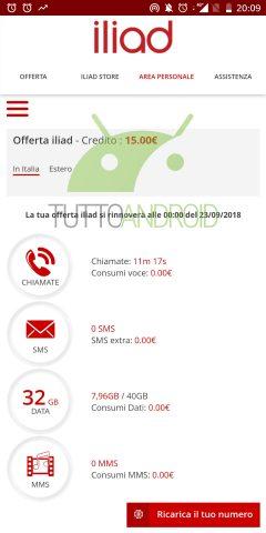 Iliad contatori funzionanti screenshot