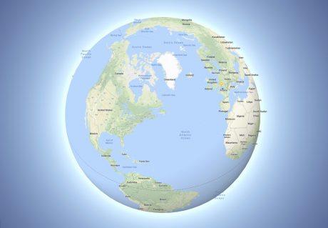 Google maps 3D globe mode
