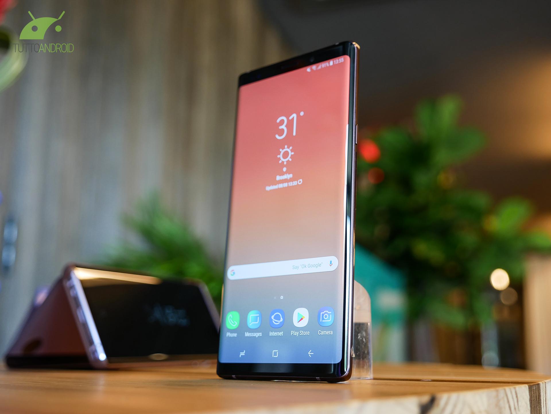 Samsung Galaxy Note 9 Prezzo Caratteristiche Uscita E