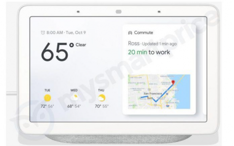 Google Home Hub, il primo smart display di Big G, si mostra