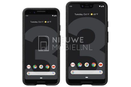 Ecco Google Pixel 3 e Pixel 3 XL nei primi render ufficiali