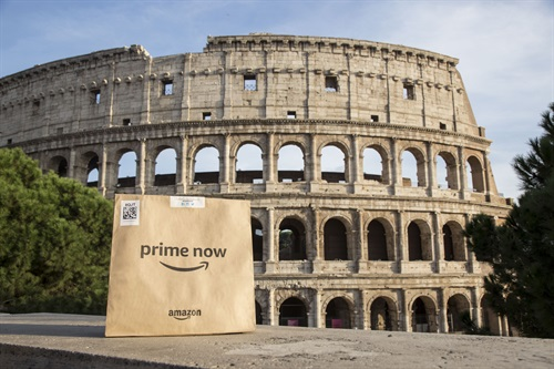 Anche a Roma si può fare la spesa con Amazon Prime Now