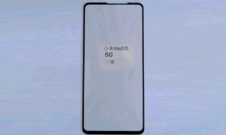 Xiaomi MI MIX 3 leaked front panel