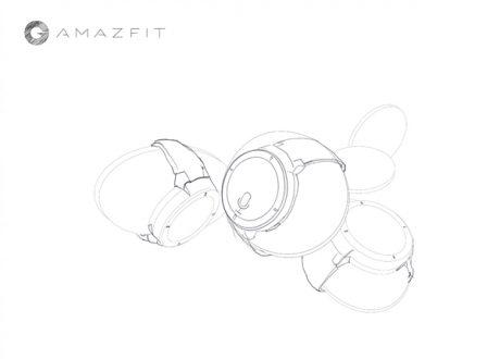 Amazfit watch sketch