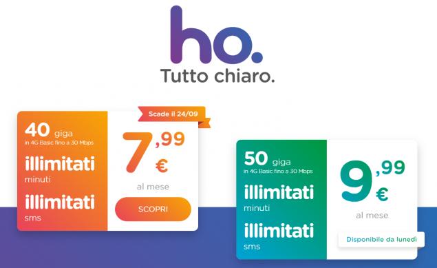 Ho.mobile: da domani una nuova offerta con 50GB mensili