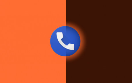 Google Telefono tema scuro